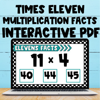 Multiplication Fact Interactive PDF - 11s Facts