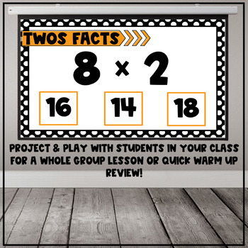 Multiplication Fact Interactive PDF - 2s Facts
