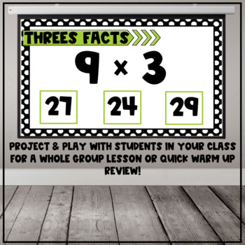 Multiplication Fact Interactive PDF - 3s Facts