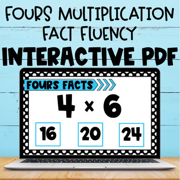 Multiplication Fact Interactive PDF - 4s Facts