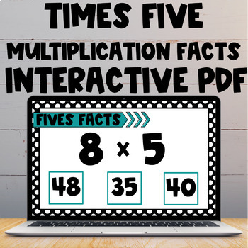 Multiplication Fact Interactive PDF - 5s Facts