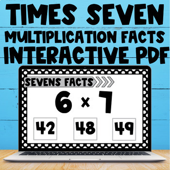 Multiplication Fact Interactive PDF - 7s Facts