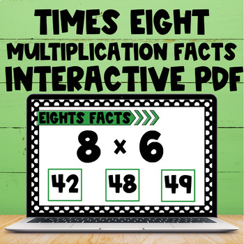 Multiplication Fact Interactive PDF - 8s Facts