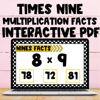 Multiplication Fact Interactive PDF - 9s Facts
