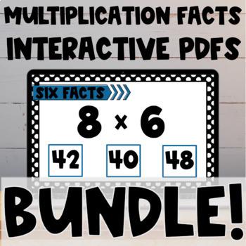 Multiplication Fact Interactive PDF BUNDLE