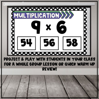 Multiplication Fact Interactive PDF - Mixed Facts