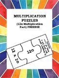 Multiplication Fact Jigsaw Puzzles (12X) FREEBIE