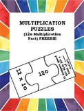 Multiplication Fact Jigsaw Puzzles (12X) FREEBIE