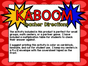 Multiplication Fact Kaboom