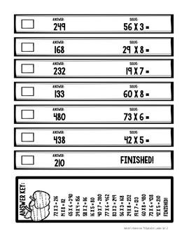 Multiplication Ladders: Computation & Fact Practice Freebie!