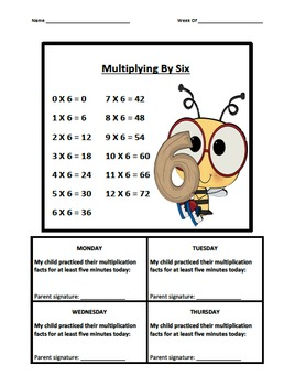 Multiplication Fact Logs Bee Theme (0-9)