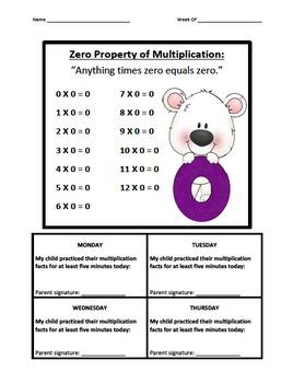 Multiplication Fact Logs Monster (0-9)