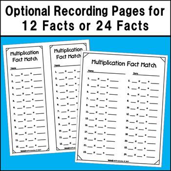 Multiplication Fact Match Puzzles (Penguin Theme)