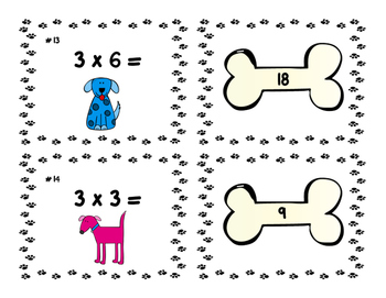 Multiplication Fact Match-Up: Facts 2 & 3