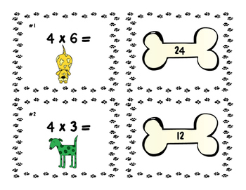 Multiplication Fact Match-Up: Facts 4 & 5