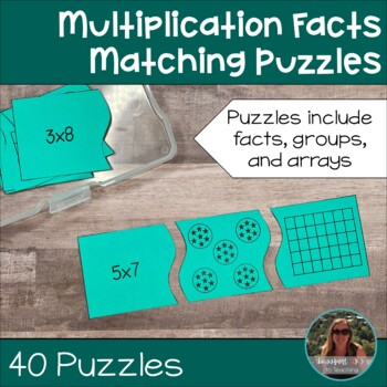 Multiplication Fact Matching Puzzles