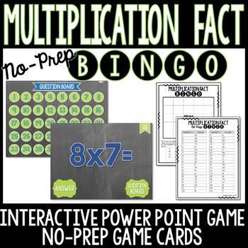 Multiplication Facts No Prep BINGO Game