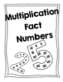 Multiplication Fact Numbers