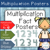 Multiplication Fact Posters - Blue Shiplap