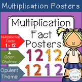 Multiplication Fact Posters - Opulent Themed