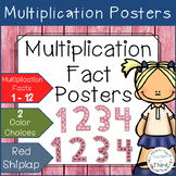 Multiplication Fact Posters - Red Shiplap
