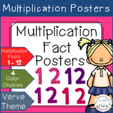 Multiplication Fact Posters - Verve (Purple & Pink) Themed