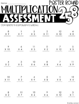 Multiplication Fact Practice & Assessment Pack