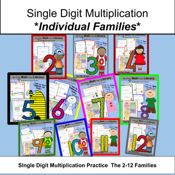 Single Digit Multiplication Mastery and Review Worksheets