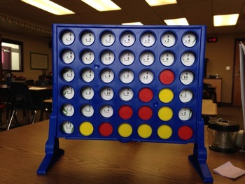 Multiplication Game - Basic Facts Practice with Connect Four