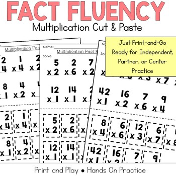 Multiplication Fact Practice: Cut and Paste