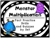 Multiplication Fact Practice Drills and Quizzes by Set