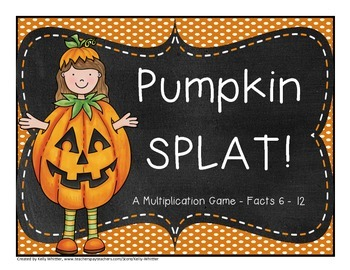 Multiplication Fact Practice - Facts 6 - 12 - Pumpkin Themed!