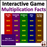 Multiplication Facts Interactive Game Activity