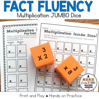 Multiplication Fact Practice: Jumbo Dice