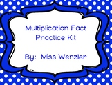 Multiplication Fact Practice Kit