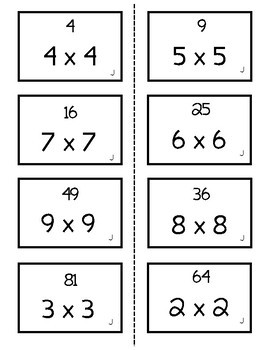 Multiplication Fact Practice - Line Them Up