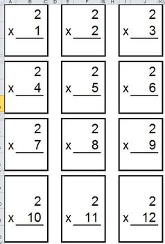 Multiplication Fact Homewor Practice Packet:  A Customizable Weekly Resource