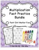 Multiplication Fact Practice Bundle Paint Dot Marker Fun