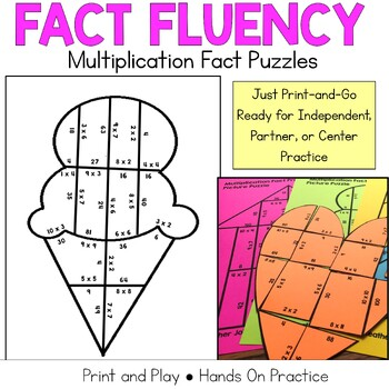 Multiplication Fact Practice: Picture Puzzles
