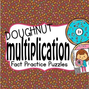 Multiplication Fact Practice Puzzle (Doughnut Puzzle)