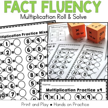 Multiplication Fact Practice: Roll and Solve Game