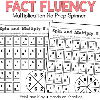 Multiplication Fact Practice: Spin A Number