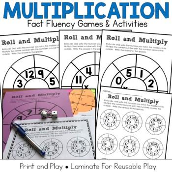 Multiplication Fact Practice Bundle: 8 Hands-On Math Activities