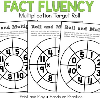 Multiplication Fact Practice: Target Dice Roll