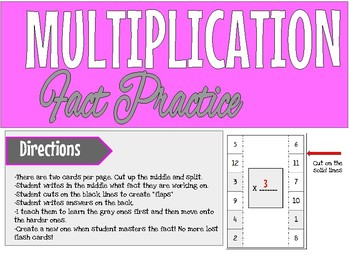 Multiplication Fact Practice Template