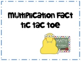 Multiplication Fact Practice Tic Tac Toe Game