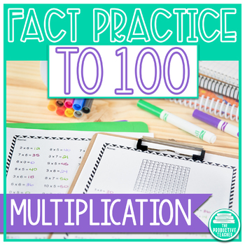 Multiplication Fact Practice Up to 100