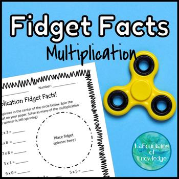 Multiplication Fact Practice using Fidget Spinners