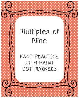 Multiplication Fact Practice with Paint Dot Markers