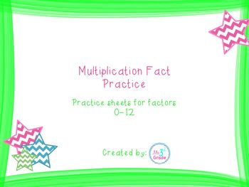 Multiplication Fact Practice (x2)